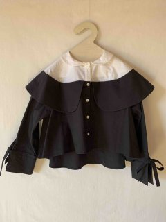 <img class='new_mark_img1' src='https://img.shop-pro.jp/img/new/icons14.gif' style='border:none;display:inline;margin:0px;padding:0px;width:auto;' />folk made.   double collar blouse / white&black