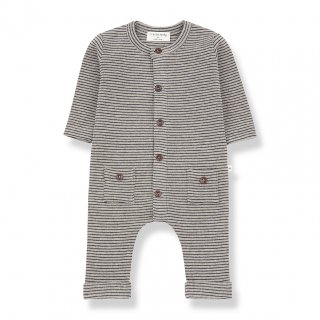 <img class='new_mark_img1' src='https://img.shop-pro.jp/img/new/icons14.gif' style='border:none;display:inline;margin:0px;padding:0px;width:auto;' />1+in the family  HUDSON JUMPSUIT  / beige&blue notto. 6m last one!