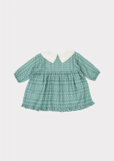 <img class='new_mark_img1' src='https://img.shop-pro.jp/img/new/icons14.gif' style='border:none;display:inline;margin:0px;padding:0px;width:auto;' />CARAMEL  Buzzard Baby Dress /  Teal Dotty Print  12m,18m,2y