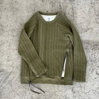 <img class='new_mark_img1' src='//img.shop-pro.jp/img/new/icons14.gif' style='border:none;display:inline;margin:0px;padding:0px;width:auto;' />MOUN TEN.    stripe quilt long sleeve / khaki