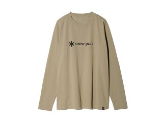 <img class='new_mark_img1' src='https://img.shop-pro.jp/img/new/icons14.gif' style='border:none;display:inline;margin:0px;padding:0px;width:auto;' />Snow peak  MM Printed Logo L/S Tee ユニセックスサイズ / Beige