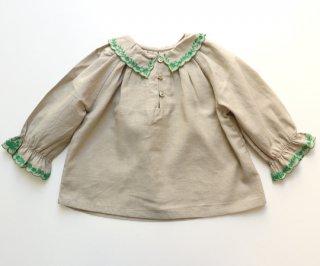 <img class='new_mark_img1' src='https://img.shop-pro.jp/img/new/icons14.gif' style='border:none;display:inline;margin:0px;padding:0px;width:auto;' />CARAMEL  RUFF BABY BLOUSE /  Thunder.18m last one!