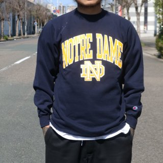 90s CHAMPION NOTRE DAME CREW<img class='new_mark_img2' src='https://img.shop-pro.jp/img/new/icons5.gif' style='border:none;display:inline;margin:0px;padding:0px;width:auto;' />