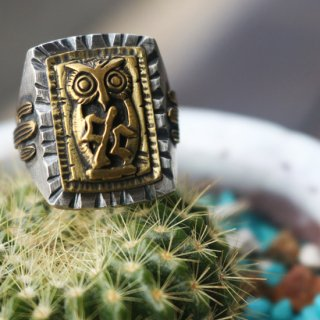 NIINAxCACTUS CLUB OWL MEXICANRING<img class='new_mark_img2' src='https://img.shop-pro.jp/img/new/icons5.gif' style='border:none;display:inline;margin:0px;padding:0px;width:auto;' />