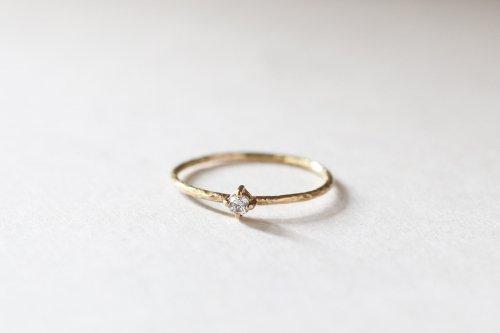 Twig ring + diamond