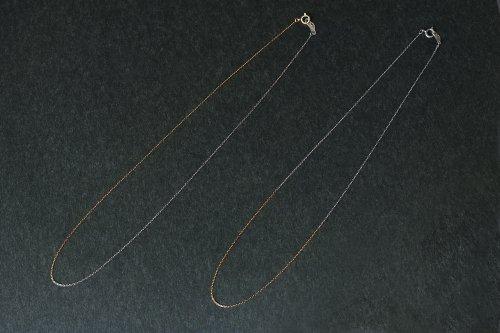 Half gold necklace