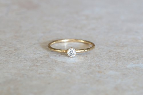 Twig+0.1ct diamond ring / K18