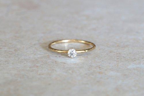 Twig + 0.1ct diamond ring / K18