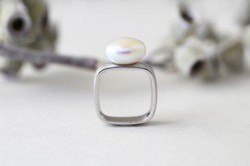 Syami ring+Pearl