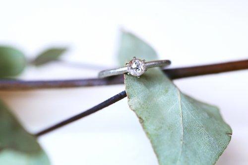 0.28ct Rose cut fancy color diamond ring