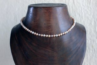 Multi color pearl necklace