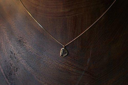 Twig rosecut dia necklace
