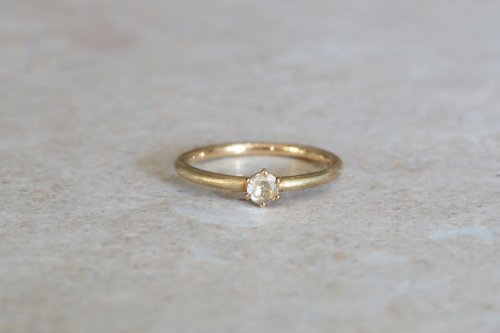 Norme ring + rose cut diamond