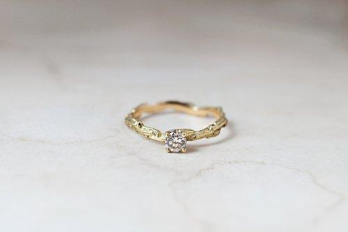 Meguru_ライトブラウンダイヤのリング