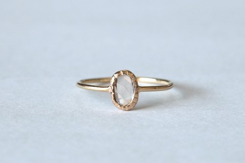 Twig rosecut diamond ring