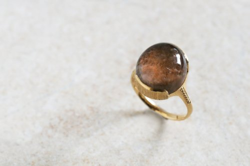 Red garden quartz ring