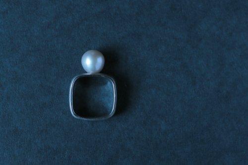 Syami ring + Pearl / Silver