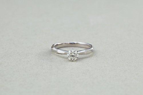 Rough cut diamond ring / Pt900