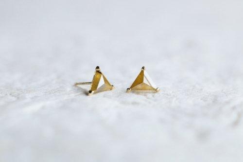 Marmalade color diamond earrings