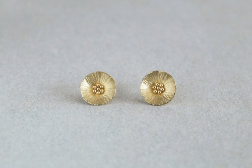 Flower earrings / K18