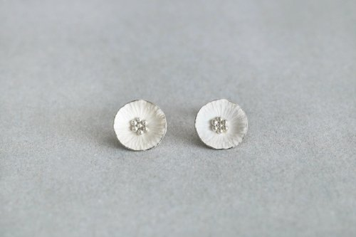 Flower earrings / Silver