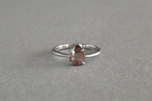 Included drop rose cut diamond ring / A