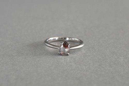 Included drop rose cut diamond ring / B