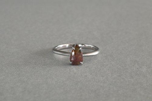 Included drop rose cut diamond ring / C