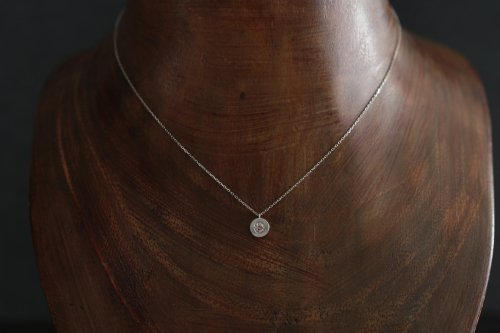 0.1ct Light brown diamond necklace / Pt900