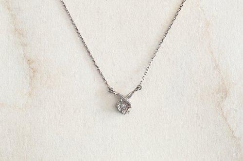 Meguru necklace + diamond / K18WG