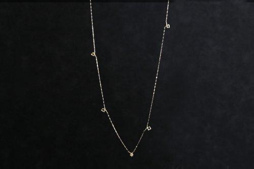 Meguru long necklace + diamond / K18YG