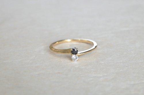 Double stones ring / diamond