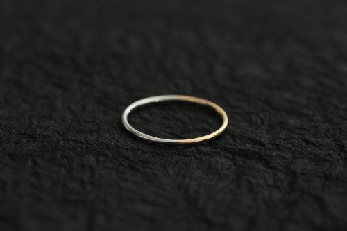 Half gold ring 1.0mm