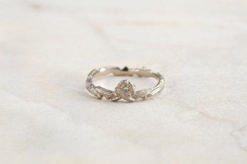 Meguru ring + diamond / K18WG
