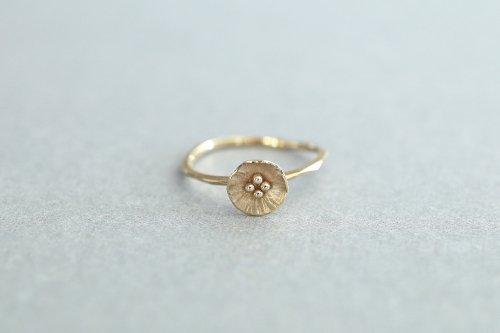 Petit flower ring / K18