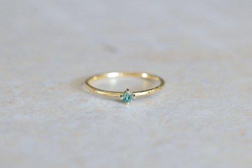 Twig + seagreen diamond ring