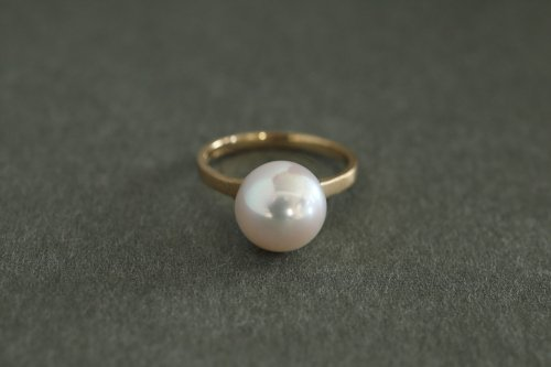 Neat pearl ring / K18YG