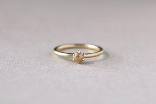 Norme ring + rosecut diamond ( orange ) / K18