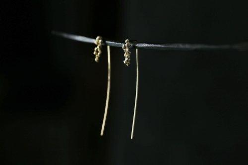 Whisper earrings + light brown diamonds