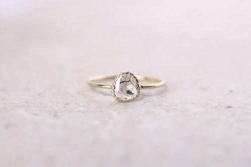 Twig ring + rosecut diamond