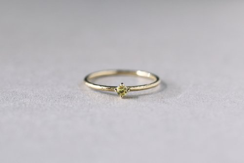 Twig ring + yellow sapphire / K18