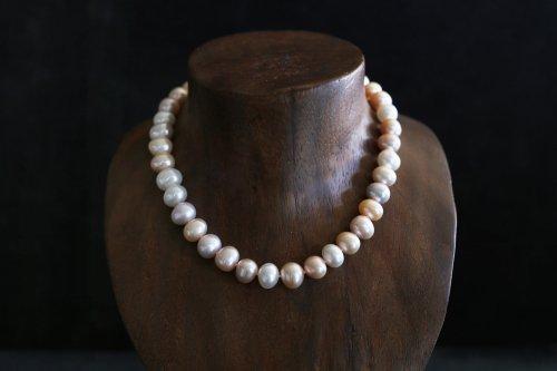 Multi color pearl necklace / special
