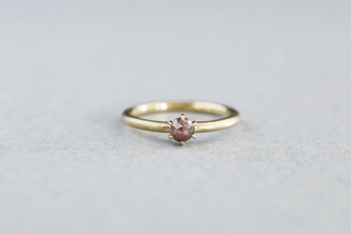 Norme rosecut ring +fancy color diamond ( brown )