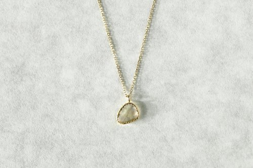 Twig rose cut diamond necklace