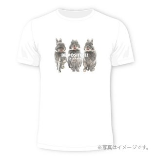 Be positive! Tシャツ白(通常配送・予約販売)<img class='new_mark_img2' src='https://img.shop-pro.jp/img/new/icons15.gif' style='border:none;display:inline;margin:0px;padding:0px;width:auto;' />