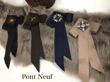Pont Neuf グログランリボンブローチ