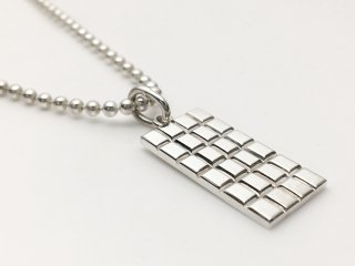 Chocolate Bar Pendant (SV) チェーン(50cm)付き