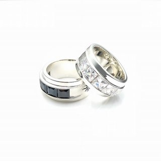Five stones SQUARE ring L
