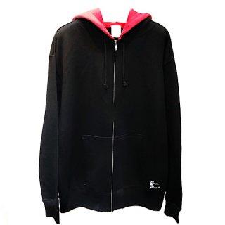 【Hi-noi】 Zipパーカー BLACK x RED