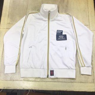 【SALE】ジャージジャケット ホワイト/ゴールドライン M